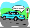 Carpool Lane Clipart Image