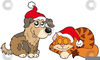 Yarn And Dogs Clipart Image