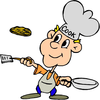 Flipping Pancakes Clipart Image