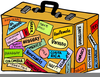Packing A Suitcase Clipart Image