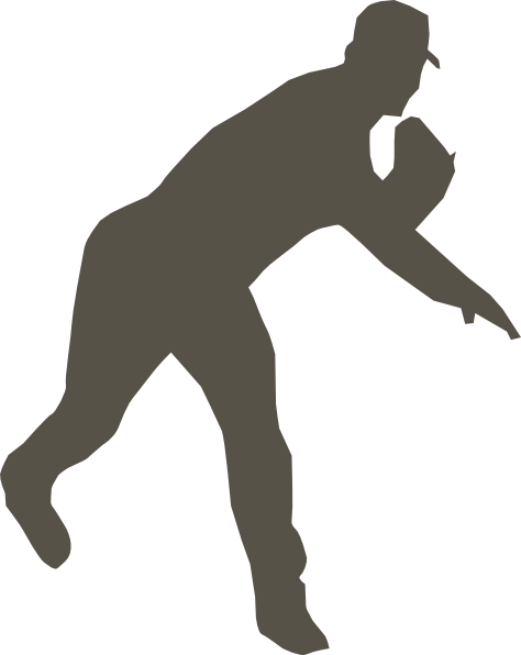 free clipart baseball player silhouette - photo #16