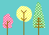 Colorful Patterned Trees Image