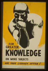 For Greater Knowledge On More Subjects Use Your Library Often!  / V. Donaghue. Image