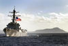 The Newly Commissioned Guided Missile Destroyer Uss Chafee (ddg 90) Sails Past Diamond Head Crater Image