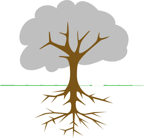 tree with roots clip art at clker com vector clip art online rh clker com tree with deep roots clip art transparent tree roots clip art