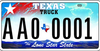 Texas License Plate Image