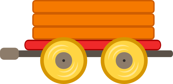 Train Car Orange Clip Art At Clker Com Vector Clip Art