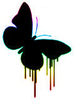 Butterfly Black Dripping Shine Image