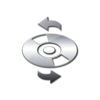 Glossy Silver Icon Media Cd Refresh Image