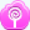 Free Pink Cloud Lollipop Image