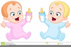 Baby Boy Twins Clipart Image