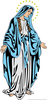 Virgin Mary Crowning Clipart Image