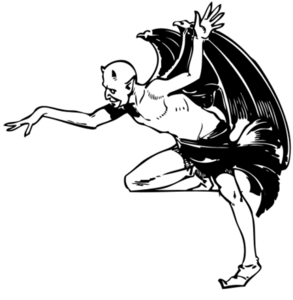 Normal Halloween Devil Posing Image