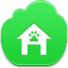 Free Green Cloud Doghouse Image