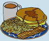 Pancake And Syrup Coffee Bacon Hashbrown Clip Art