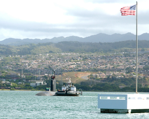 Uss Greeneville (ssn 772) Departed For Deployment Sept. 1, 2003, As Part Of Expeditionary Strike Group One Image