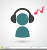Person Listening To Music Clipart Image