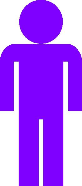 Purple Man Symbol Clip Art At Clker Com Vector Clip Art