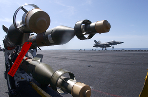 Bombs Ready On Flight Deck Image