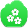 Free Green Cloud Flowers Image