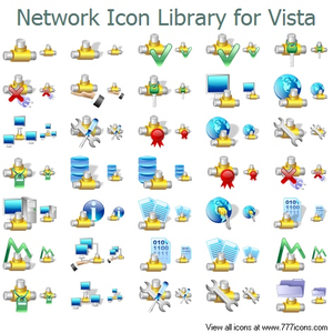 Network Icon Library For Vista Image