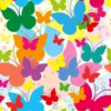Vivid Seamless Background With Butterflies Image