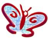 Red And Blue Butterfly Image