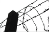 Barb Wire Fence Clipart Image