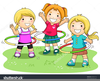 Black White Clipart Children Playing Image
