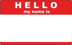 Hello My Name Is Sticker By Trexweb Image