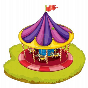 Illustration Of A Carnival Ride Image