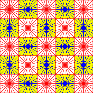 Bright Red And Blue Pattern Image