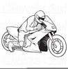Motorcycle Clipart Black And White Image
