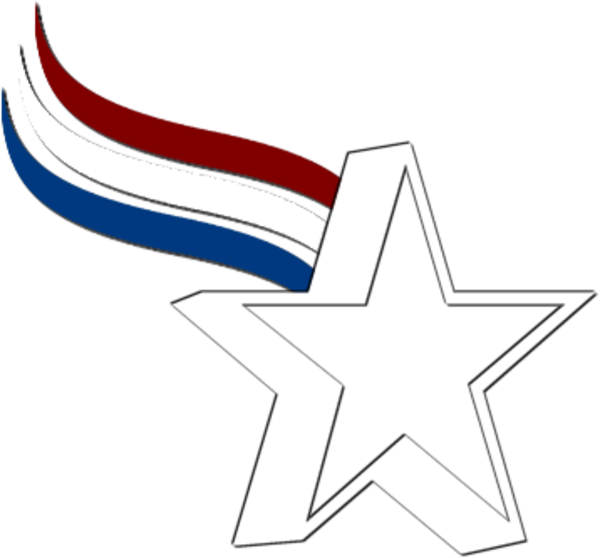 Star Red White Blue   Free Images at Clker.com - vector ...