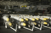 Bunker Buster Bombs Are Staged In The Hangar Bay Aboard Uss Constellation (cv 64). Image