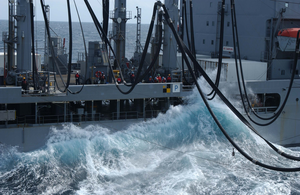 Waves Reach The Main Decks Of The Fleet Oiler Usns Rappahannock Image
