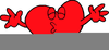 Animated Dog Valentine Clipart Image