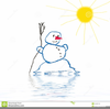 Melting Snowman Clipart Free Image