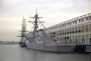 Uss Preble (ddg 88) Held Its Commissioning Ceremony On South Boston Image