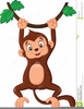 Clipart Monkey Hanging From Tree Image
