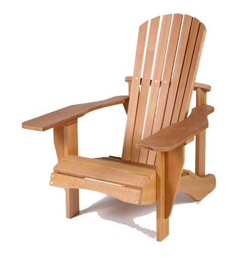 Cedardeliteadirondackchair free images at for Wooden armchair designs