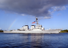 The Guided Missile Destroyer Uss Paul Hamilton (ddg 60) Returns Home To Pearl Harbor After A Deployment Image