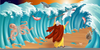 Parting Of The Red Sea Clipart Image