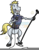Black And White Clipart Horses Image