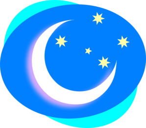 Crescent And Stars Clip Art