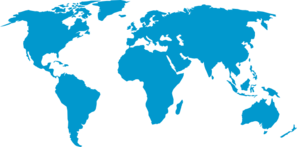 World Map Blue Clip Art