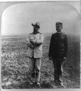 [theodore Roosevelt, Full, Standing, With Dr. Cross (in Cav. Off. Unif.)] Image