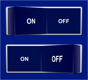 On Off Switch Blue Image
