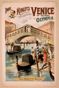 Imre Kiralfy S Great Realistic Representation Of Venice Of To-day At Olympia Image