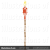 Tiki Torches Clipart Image